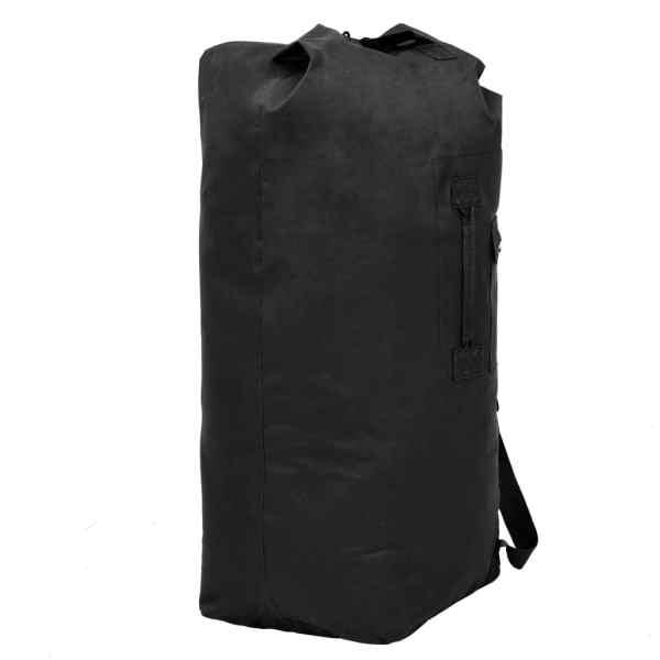 vidaXL Militärinspirerad duffelväska 85 L svart