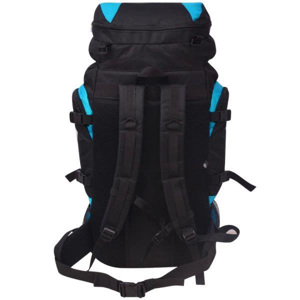 vidaXL Vandringsryggsäck XXL 75 L svart och blå