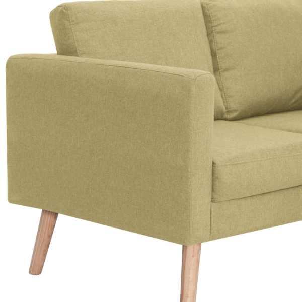 vidaXL 3-sitssoffa tyg grön