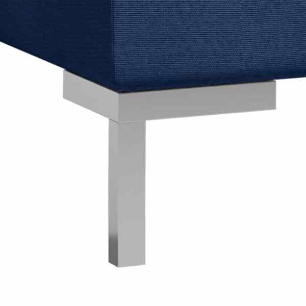 vidaXL Mittensits till modulsoffa 2 st med dynor tyg blå