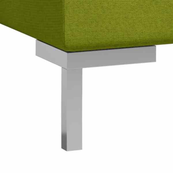 vidaXL Soffgrupp 2 delar tyg grön