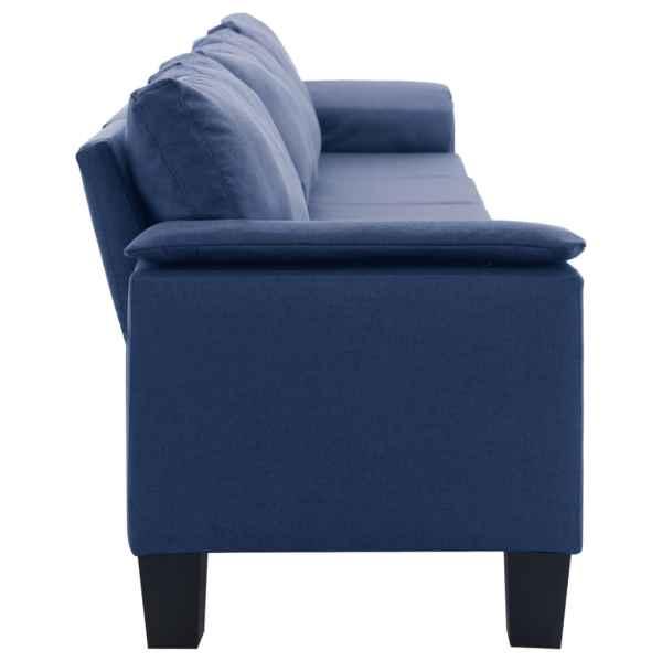 vidaXL 5-sitssoffa blå tyg