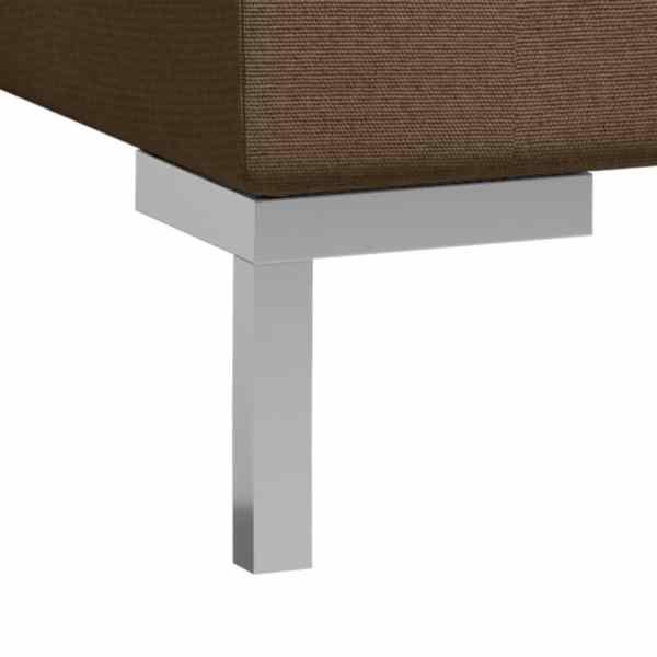 vidaXL Soffgrupp 5 delar tyg brun