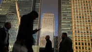 Angestellte im Bank- und Finanzviertel Canary Wharf in London.