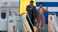 Zu Besuch in Rom: der chinesische Staatschef Xi Jinpin und seine Frau
