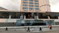 Das Kingsbury-Hotel in Colombo auf Sri Lanka nach den Anschlägen am Ostersonntag