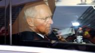 Wolfgang Schäuble am Tag nach der Bundestagswahl in Berlin