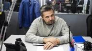 Roman Badanin, der Gründer von Projekt, dem im Jahr 2018 gegründeten Investigativportal, am 6. Oktober 2016 in Moskau