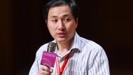 He Jiankui spricht am Mittwoch auf einem Kongress in Hongkong über seine Arbeit.