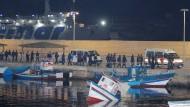 Samstagabend in Lampedusa: 82 Gerettete wurden an Land gebracht