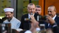 Recep Tayyip Erdogan bei der Eröffnung der Ditib-Zentralmoschee in Köln im September 2018.