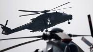 Hubschrauber vom Typ NH-90 bei einer Präsentation der Bundeswehr