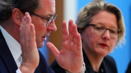 Verkehrsminister Andreas Scheuer und Umweltministerin Svenja Schulze
