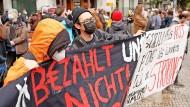 So nicht! Proteste von Gorillas-Fahrern am Mittwoch in Berlin