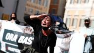 Wütender Protest gegen die Corona-Maßnahmen in Italien.