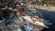 Wie stark der Tsunami war, den das Beben auslöste, zeigt diese Aufnahme vom 1. Oktober 2018.
