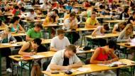 Können die Studenten auch wirklich all das auf's Papier bringen, was sie im Kopf haben?