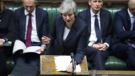 Am Mittwoch stellte sich May den Fragen der Abgeordneten im britischen Unterhaus