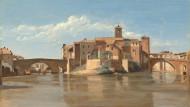 """Hier stand er und konnte nicht anders: Blick auf San Bartolomeo in Rom, wo Gregorovius den Plan zu seiner """"Römischen Geschichte"""" fasste."""