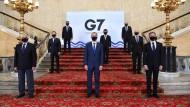 Die Außenminister der G-7-Staaten am Dienstag bei ihrem Treffen in London