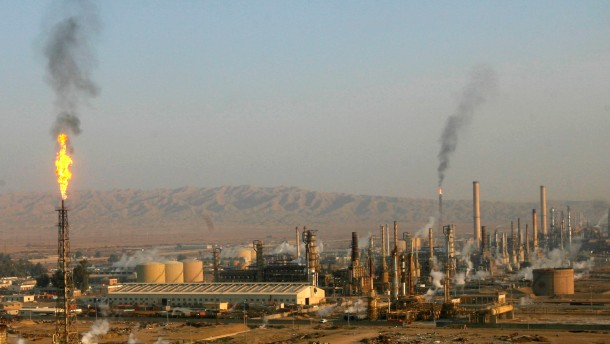 File photo of Baiji oil refinery, north of Baghdad