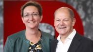 Klara Geywitz y Olaf Scholz se postulan para la presidencia del partido SPD.