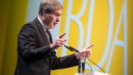 Ingo Kramer spricht Ende 2017 auf dem Deutschen Arbeitgebertag in Berlin.