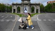 Zum Zeitpunkt der ganztägigen Ausgangssperren im April 2020 in Madrid