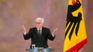 Missbrauch zur Sprache bringen: Frank Walter Steinmeier im Schloss Bellevue am Donnerstag