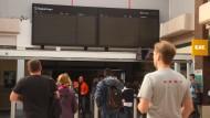 Im Londoner Bahnhof Clapham Junction zeigten die Anzeigen am Freitagnachmittag zwischendurch gar nichts an.