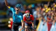 Spitzenreiter: Der dänische Radprofi Magnus Cort Nielsen hat die 15. Etappe der Tour de France gewonnen.