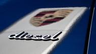 Das Logo des Fahrzeugherstellers Porsche