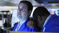 Händler sind nach den Kursverlusten an der New Yorker Börse verzweifelt.