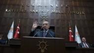 Türkischer Präsident Erdogan am Mittwoch im Parlament in Ankara