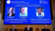 Die Gewinner des diesjährigen Physik-Nobelpreises.