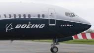 Dürfen weltweit nicht mehr starten: Flugzeuge vom Typ Boeing 737 Max.