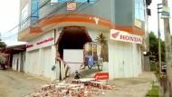 Durch das Beben wurde ein Gebäude in der peruanischen Stadt Yurimaguas teilweise zerstört.