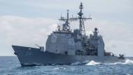 Der Lenkwaffenkreuzer USS Antietam im Südchinesischen Meer (Archivbild)