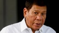 Der philippinische Präsident Rodrigo Duterte im Februar in Manila