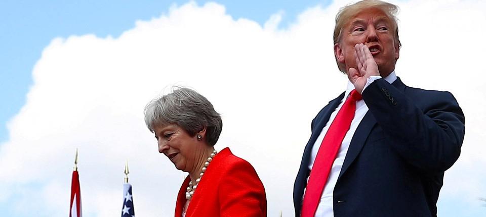 Theresa May und Donald Trump im Juli in Großbritannien: Hätte Amerikas Präsident einen besseren Brexit verhandelt?