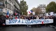 Demonstration gegen Islamophobie in Paris