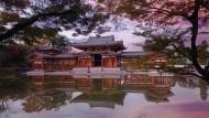 Die Phönixhalle des Byodo-in aus dem 11. Jahrhundert in Kyoto ist ein Zeugnis der Inspiration der japanischen Architektur durch China.