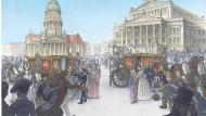 Felix Pestemers Darstellung der Eröffnung des Königlichen Schauspielhauses im Jahr 1821