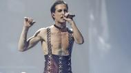 Nehmt das doch alle nicht zu ernst: Måneskin-Sänger Damiano David beim ESC vor zwei Wochen.