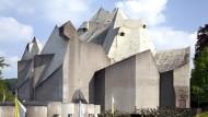 """1968 von Gottfried Böhm konzipiert: der Wallfahrtsdom und das Kloster """"Maria Königin des Friedens"""" in Velbert-Neviges"""