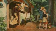 Ausgesetzte Kinder, finsterer Wald und die Angst vor dem Hunger waren im Mittelalter völlig berechtigte Ängste: Hänsel und Gretel, Illustration von Hellmut Eichrodt, um 1910.