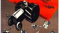 """Vernichten wir die Kulakenklasse"": Sowjetisches Plakat, um 1930"