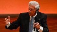 Makellose Figur: Der peruanische Literaturnobelpreisträger Mario Vargas Llosa im September 2020 beim Internationalen Literaturfestival Berlin