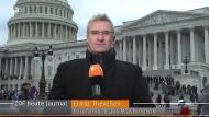 Er war nicht immer im Bild: ZDF-Korrespondent Elmar Theveßen beim Bericht aus Washington.