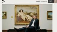 Der Schauspieler Sebastian Blomberg führt virtuelle Besucher durch das Frankfurter Städel Museum.